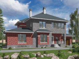 Проект дома из пеноблоков 60-71
