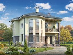 Проект дома из пеноблоков 61-21