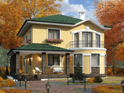 Проект дома из пеноблоков 62-42