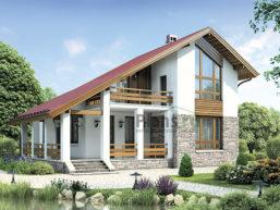 Проект дома из пеноблоков 64-29