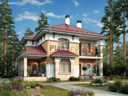 Проект дома из пеноблоков 64-98