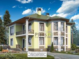Проект дома из пеноблоков 65-57