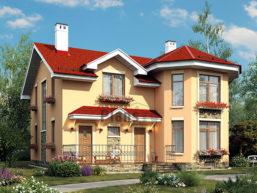 Проект дома из пеноблоков 65-74