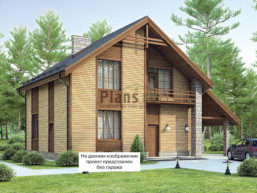 Проект дома из пеноблоков 65-92