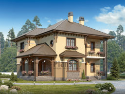 Проект дома из пеноблоков 66-00