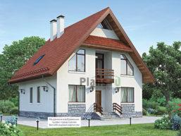 Проект дома из пеноблоков 66-37