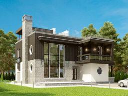 Проект дома из пеноблоков 66-95