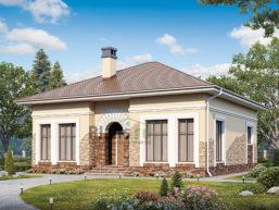 Проект дома из пеноблоков 67-25