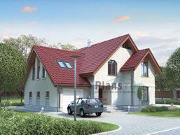 Проект дома из пеноблоков 67-66