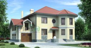 Проект кирпичного дома 70-54