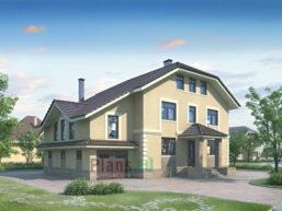 Проект кирпичного дома 70-56