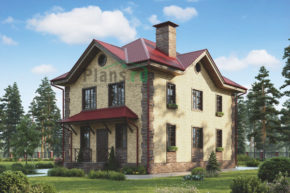 Проект кирпичного дома 73-04