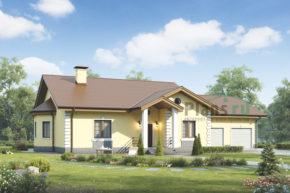 Проект кирпичного дома 73-11