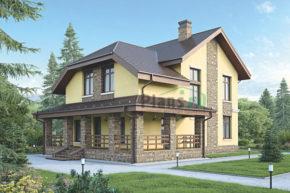 Проект кирпичного дома 73-19