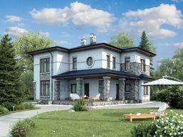 Проект кирпичного дома 73-35